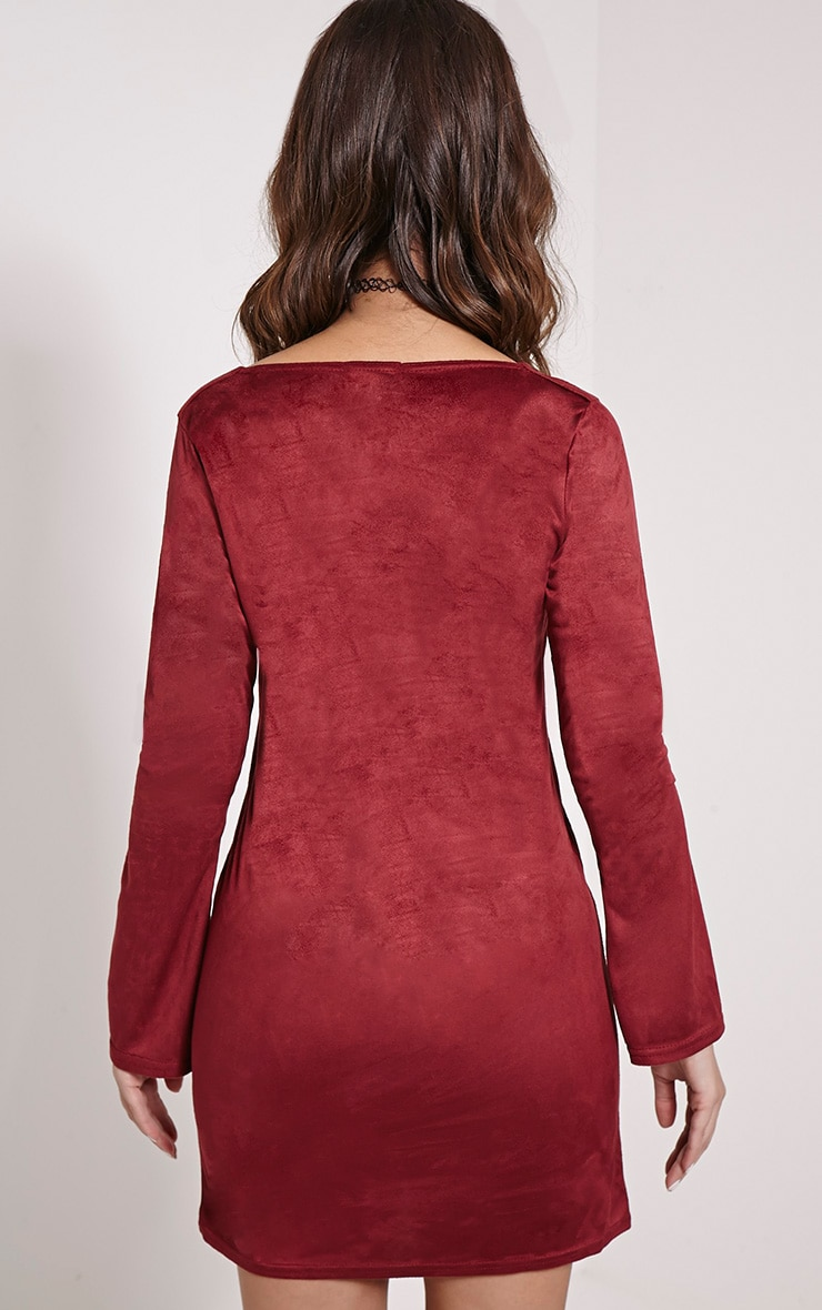 Heidi Berry Lace Up Suede Shift Dress 2
