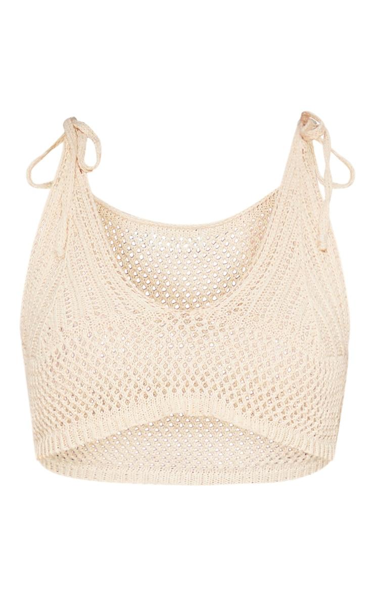 Stone Crochet Knit Bralet 3
