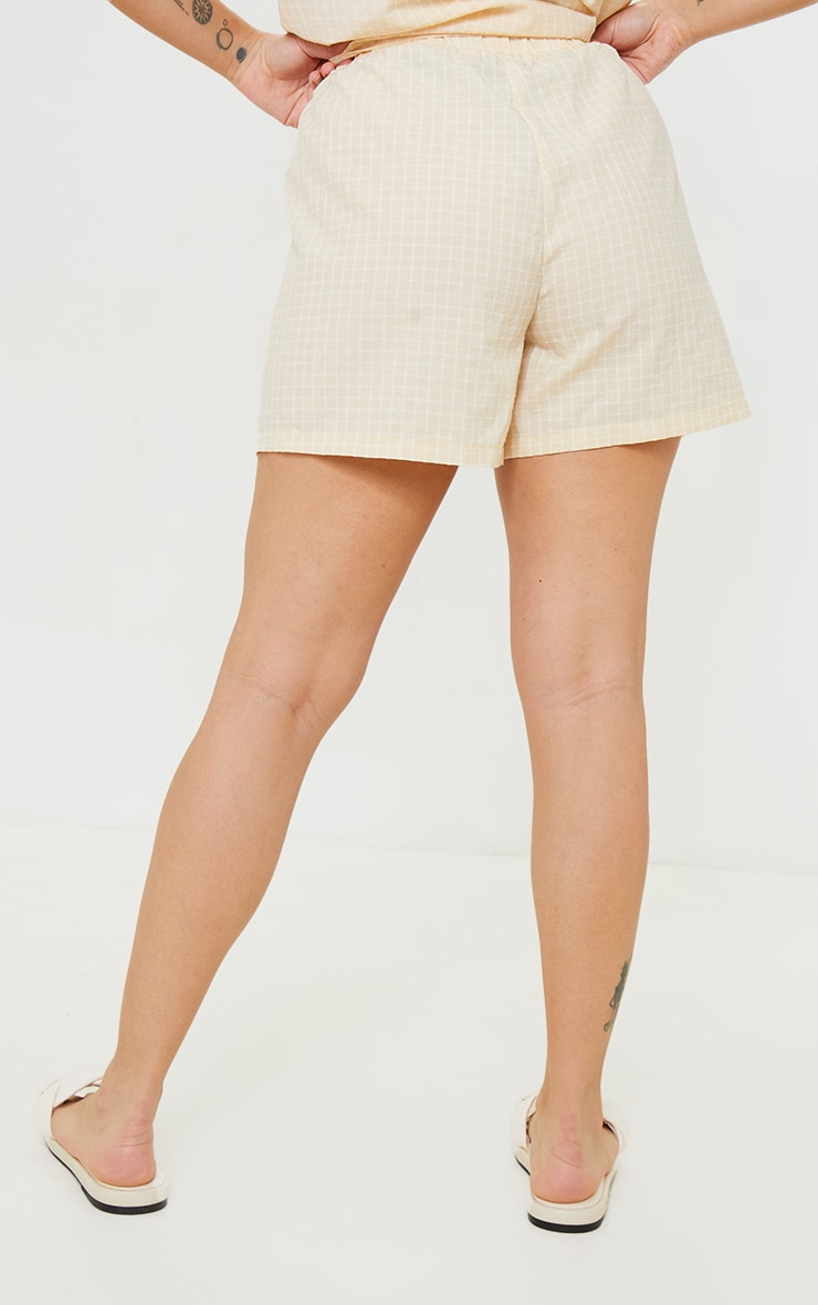 Petite Stone Checked Longline Shorts 3