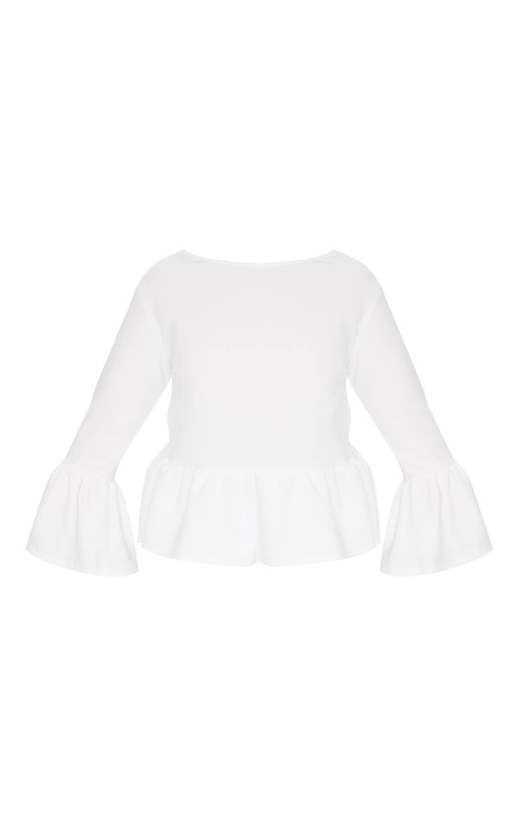 Plus White Frill Sleeve Top 3