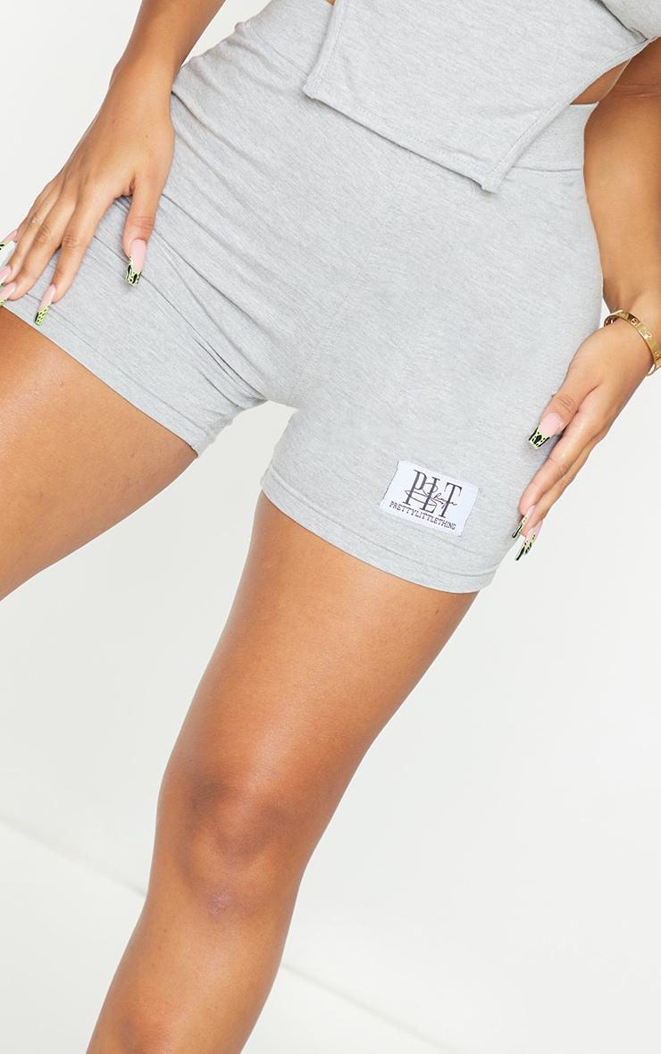 PRETTYLITTLETHING Shape Grey High Waist Bike Shorts 5