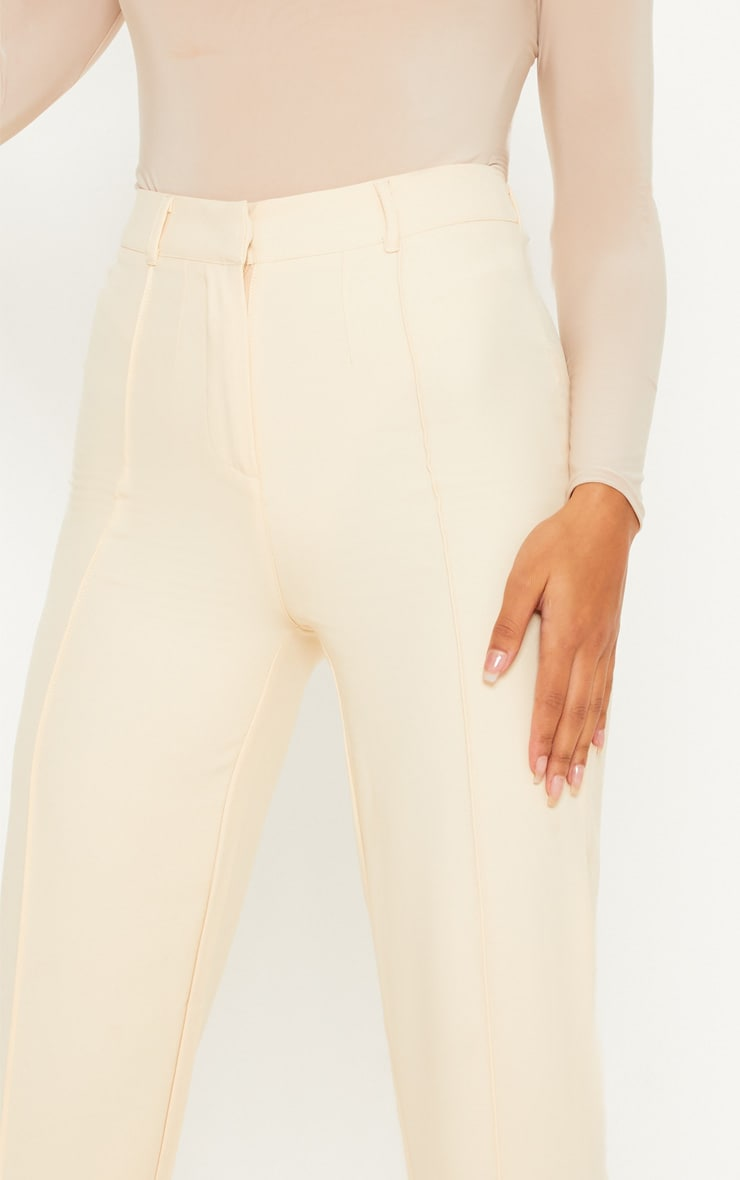 Anala Champagne High Waisted Straight Leg Trousers 5