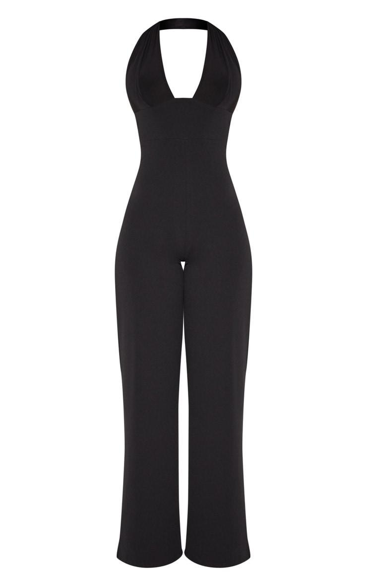 Black Halterneck Wide Leg Jumpsuit 3