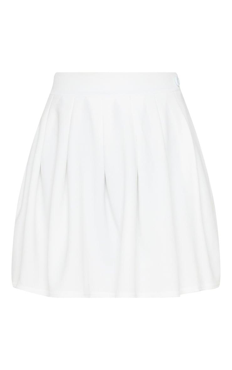 Jupe de tennis blanche plissée & fendue 3