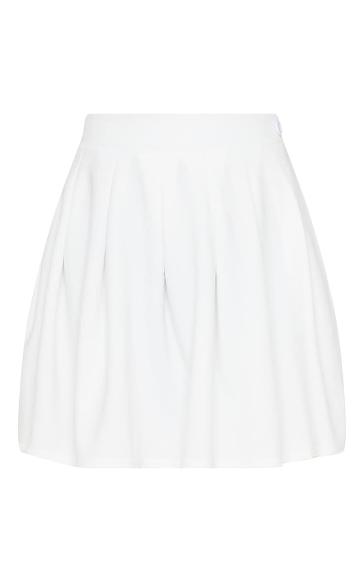 White Pleated Tennis Skirt 3