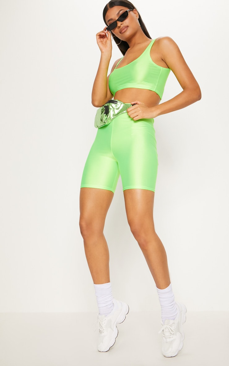 Lime Neon Cycling Shorts 5