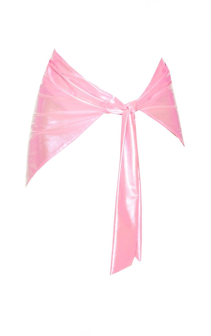 Bright Pink Iridescent Sarong 5