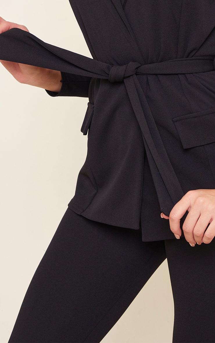 Tall Black LongLine Suit Blazer 4