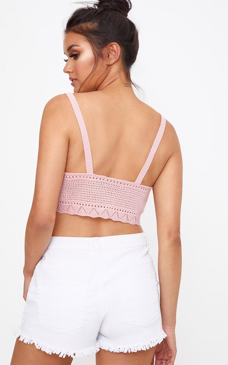 Blush Pointelle Knit Crop 2