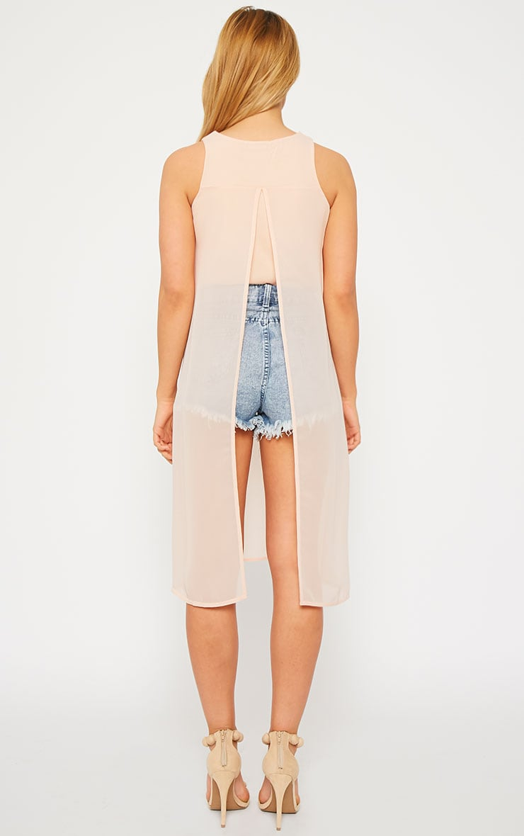 Cecile Nude Sleeveless Chiffon Top 2