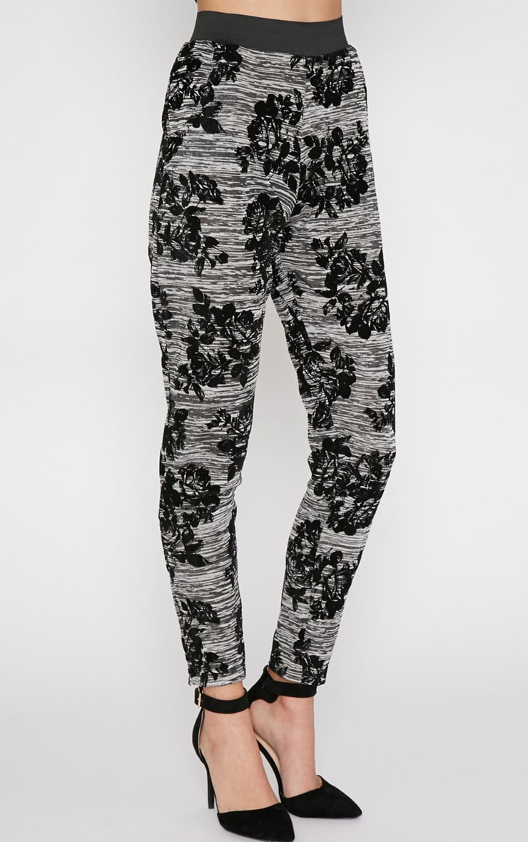 Siba Grey Floral Trouser  5