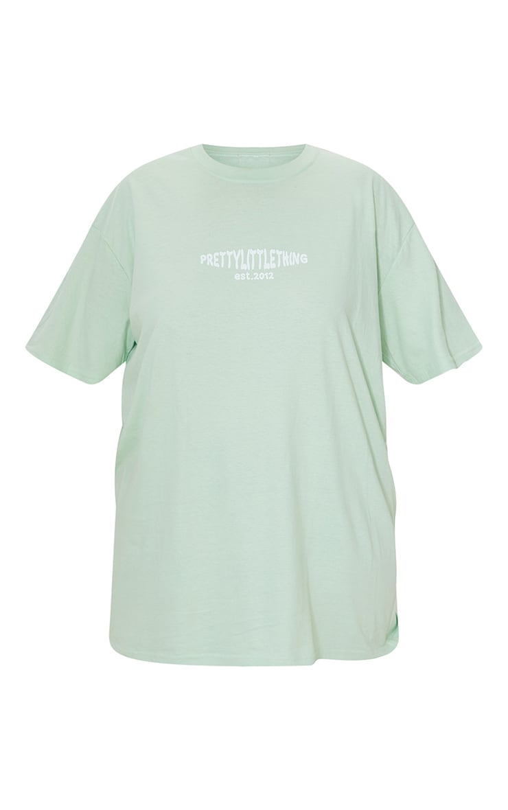 PRETTYLITTLETHING Plus Bright Green Cross Front Washed T Shirt 5