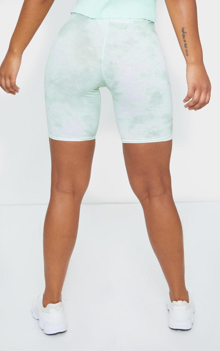 Sage Green Tie Dye Bike Shorts 3