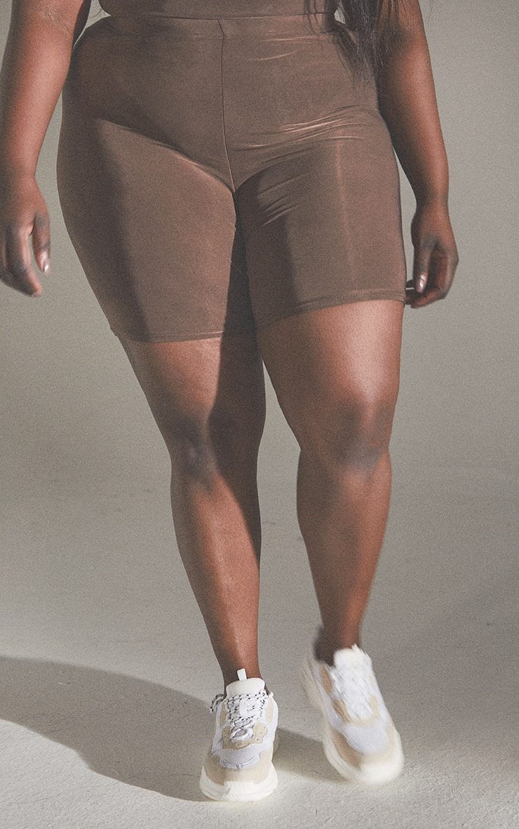 Plus Second Skin Coffee Cycle Shorts 2