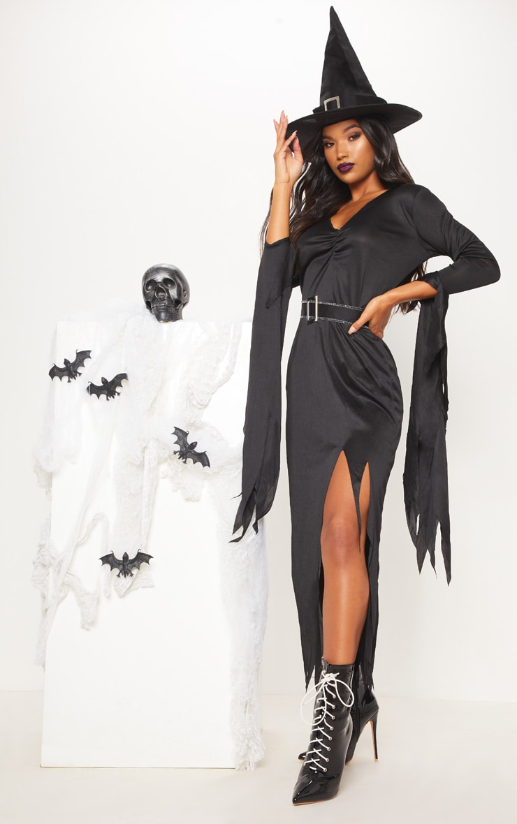 Gothic Witch Halloween Fancy Dress Outfit 1