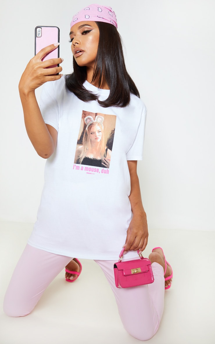 White Mean Girls Mouse Slogan T Shirt 2