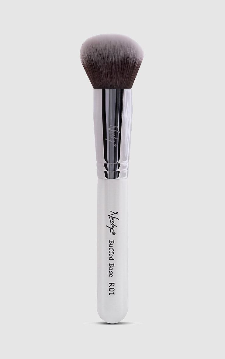 Nanshy pinceau rond blanc irisé base polie 1