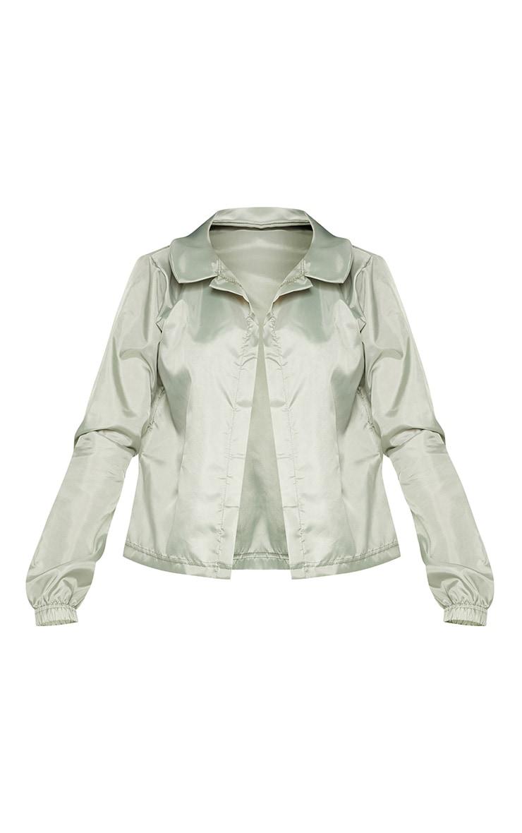 Khaki Button Detail Shell Shirt 3