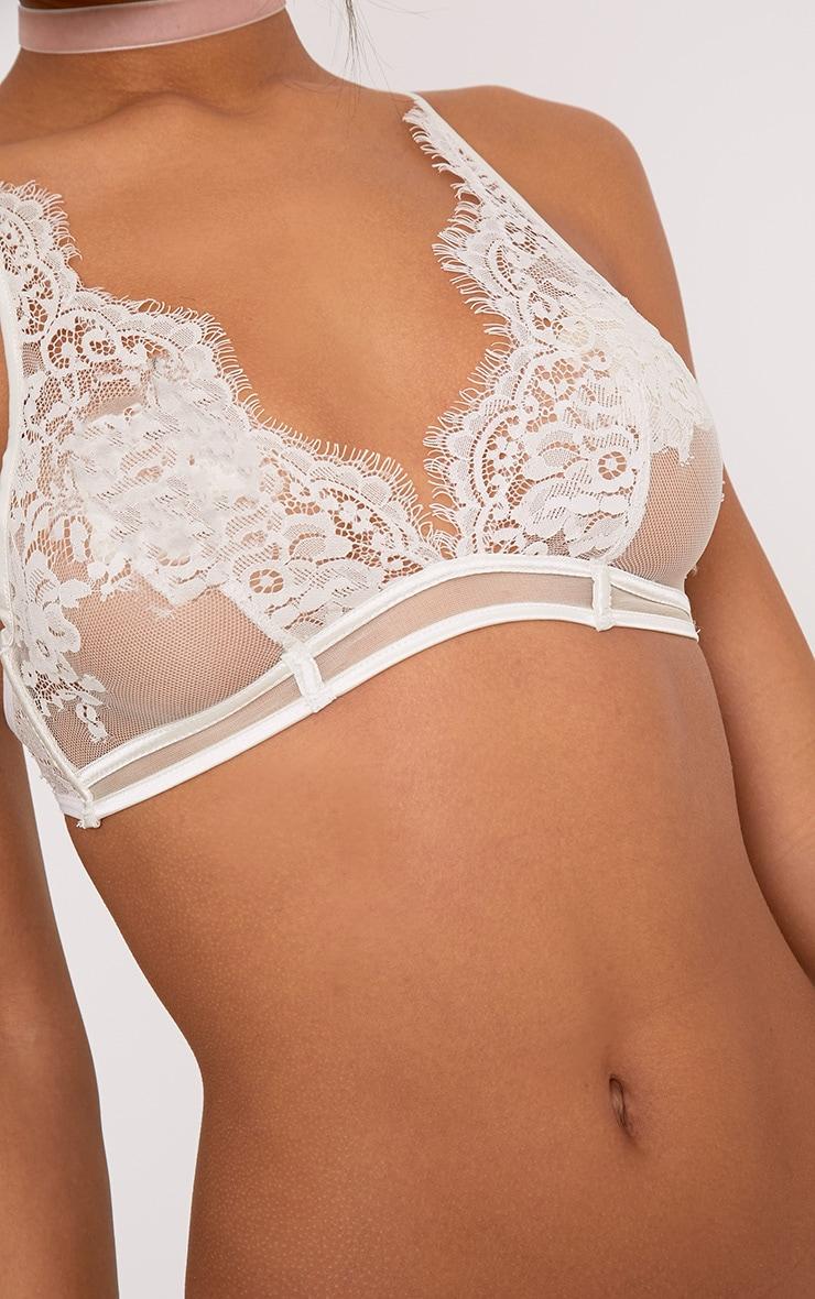Wendy Cream Sheer Lace Soft Bra 5