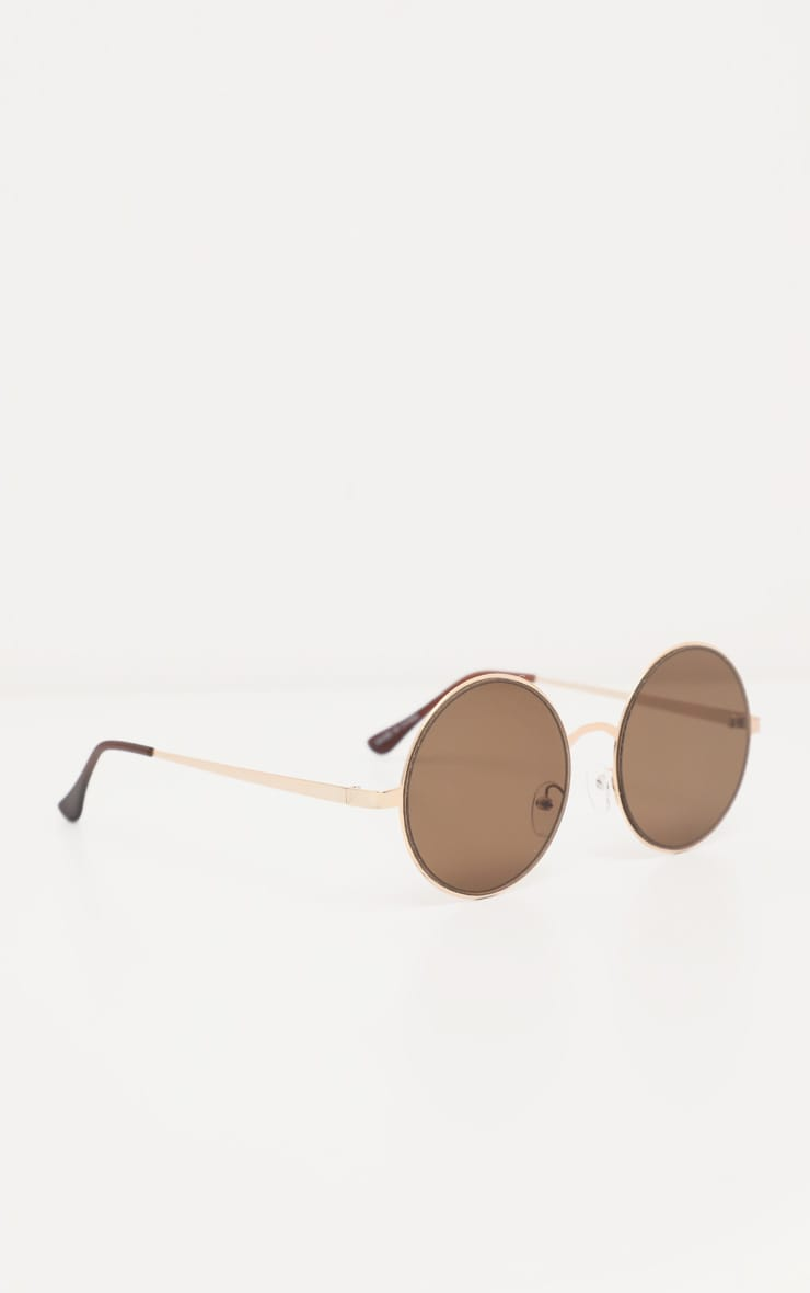 Gold Rounded Sunglasses 2