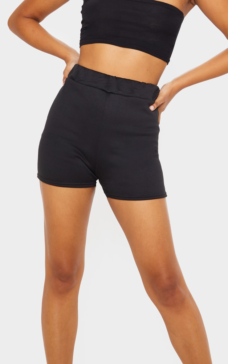 Black Sweat Casual Short  6