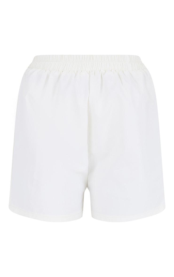 Cream Woven A Line Shorts 6