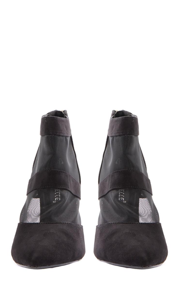 Nigella Black Suede & Mesh Heels 4