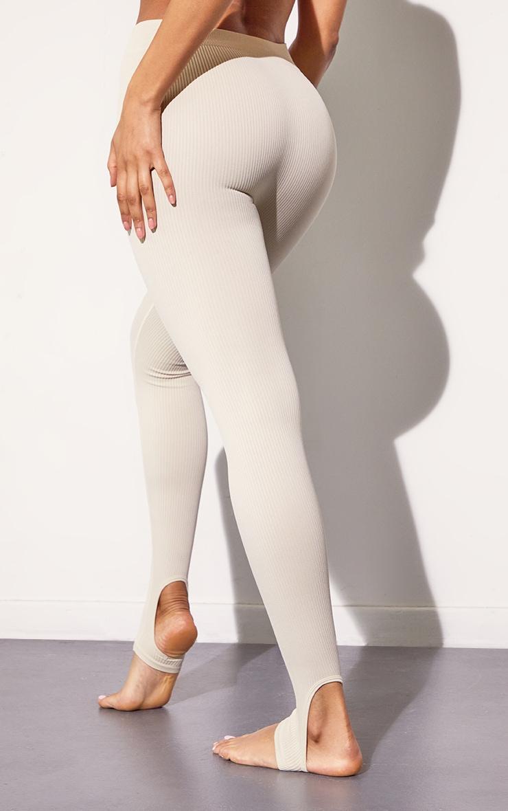 Slate Structured Contour Rib Stirrup Leggings 3