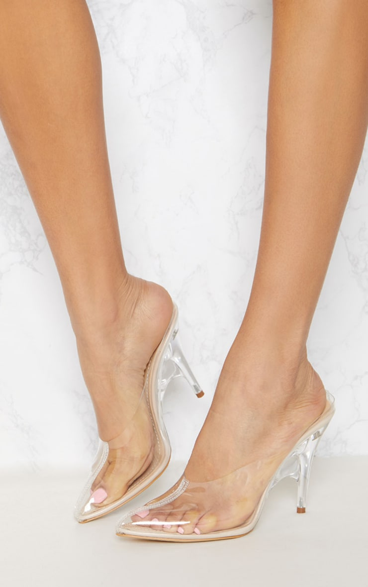 Clear Heeled Mules 2
