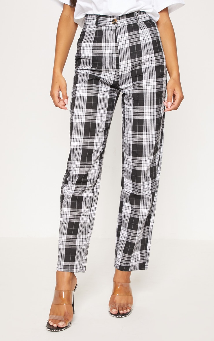 Black Check Straight Leg Trouser 2