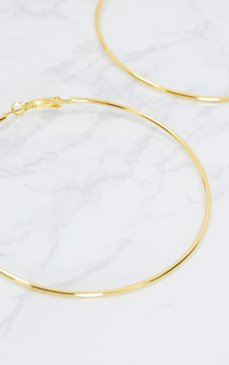 Gold 80mm Hoop Earrings 5