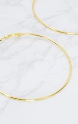 Gold 80mm Large Hoop Earrings 5