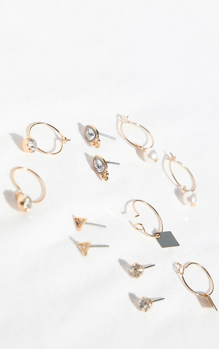 Gold Assorted Multi Pack Hoop And Stud Earrings 2