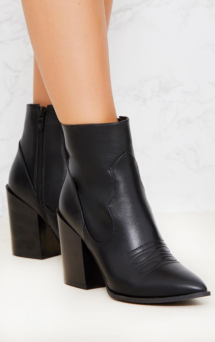 Black Western Boot  6