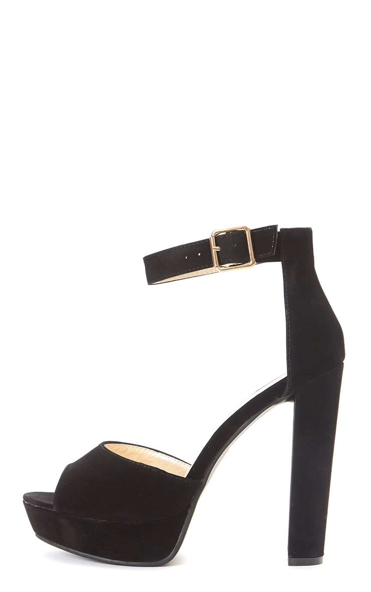 b601a9953420 Gigi Black Suede Strappy Block Heeled Sandal 1
