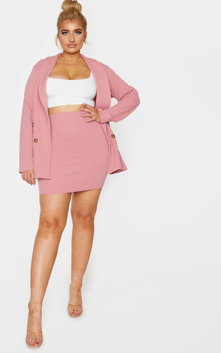 Plus Pink Mini Skirt 4
