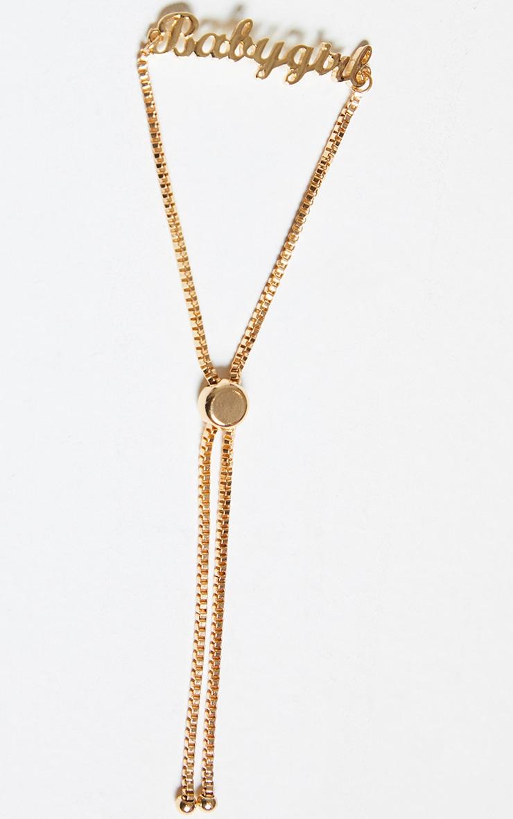Gold Babygirl Bracelet 2