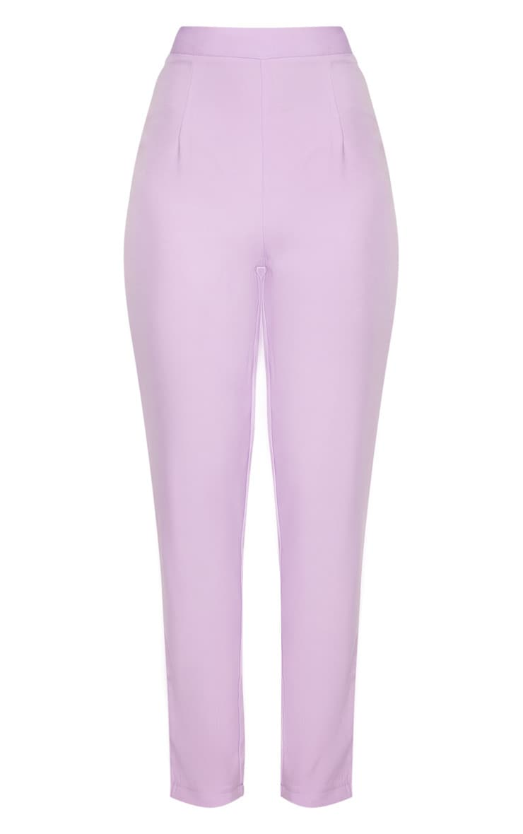 Tall Lilac Fitted Trousers 3