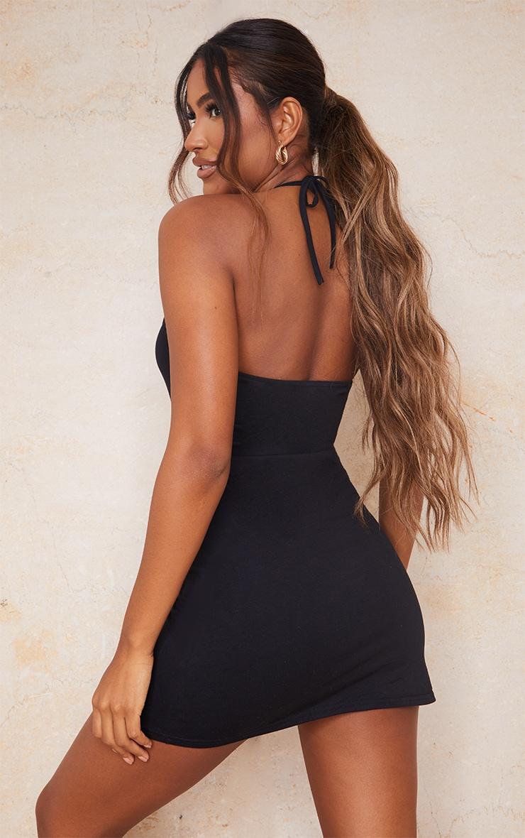 Black Multi Strap Halterneck Shift Dress 2