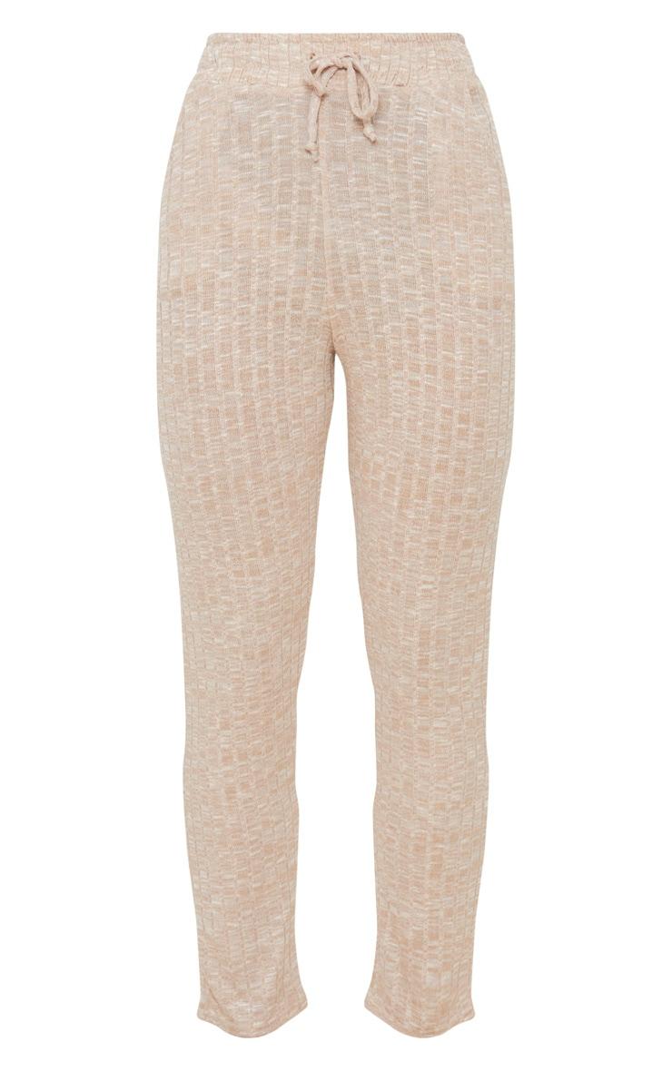 Pantalon de jogging en maille côtelée gris pierre 3