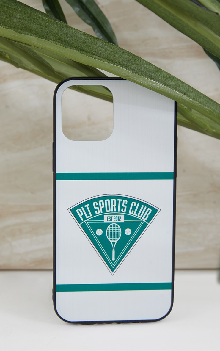 PRETTYLITTLETHING White Tennis Club Iphone 12/12 Pro Case 1