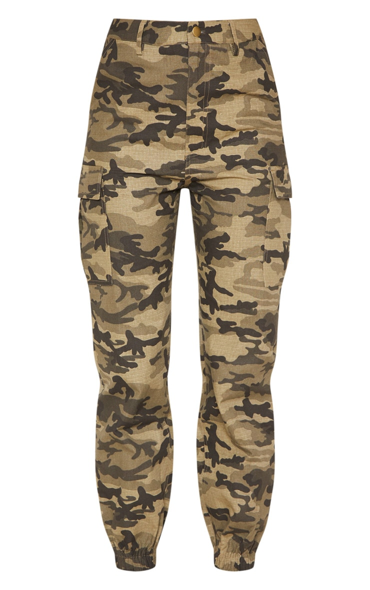 Khaki Camo Pocket Detail Cargo Pants  3