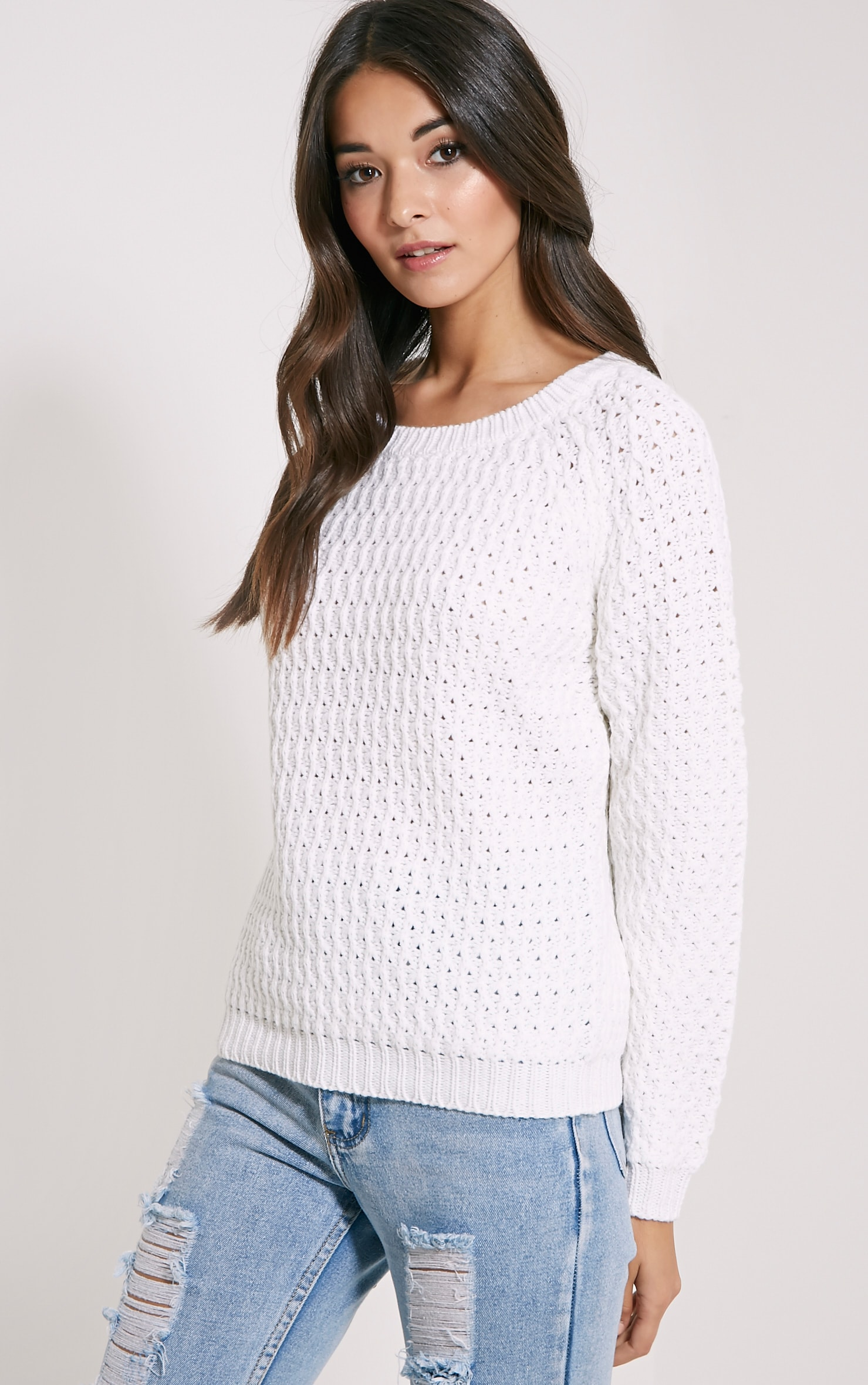 Jaylin Cream Cable Knit Jumper 4