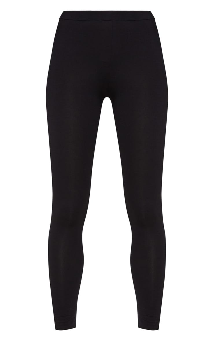 Black Ultimate Jersey High Waisted Leggings 4