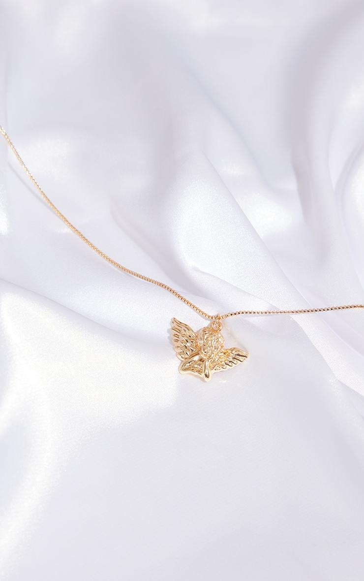 Gold Mini Cherub Necklace 1