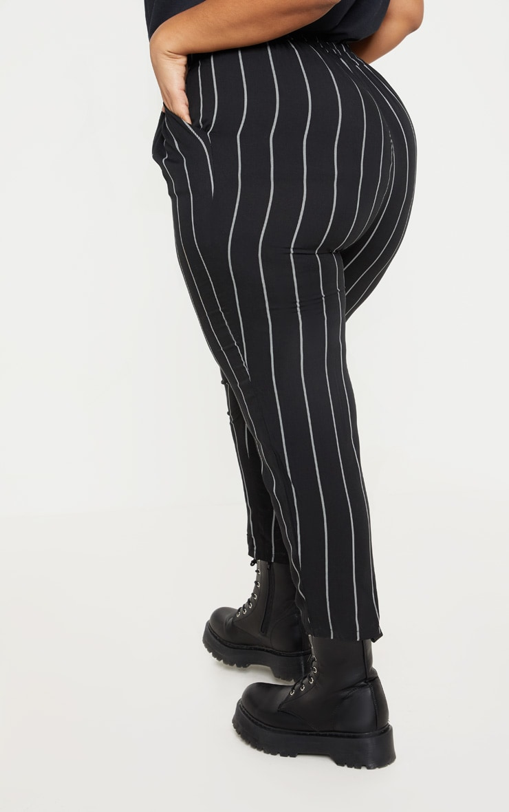 Plus Pin Stripe Casual Trousers 4