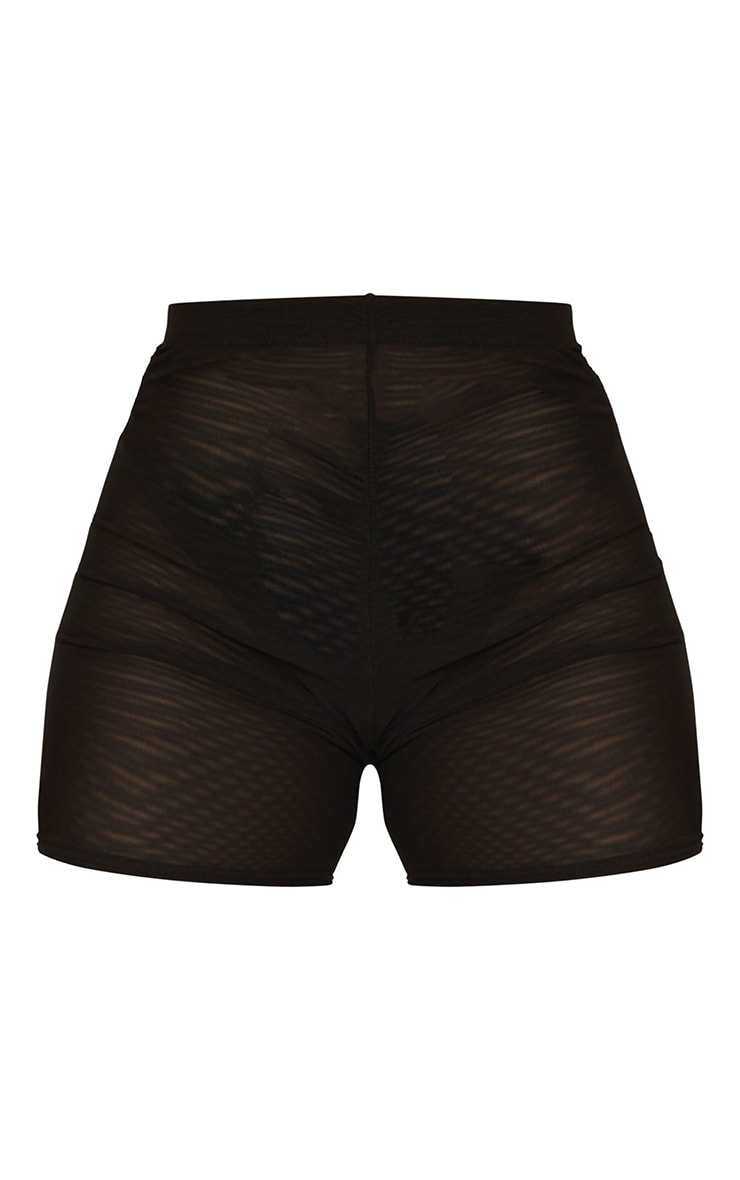 Black Mesh Layer Cycle Shorts 6
