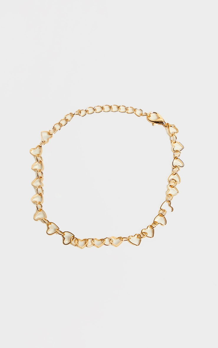 Gold Heart Chain Anklet 2