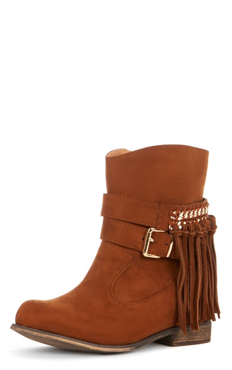 Trixie Tan Tassel Boots  4