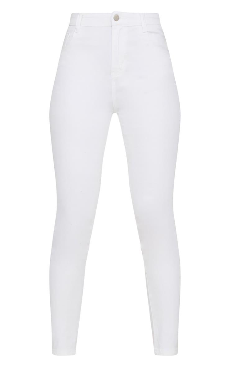 White Skinny 5 pocket Jean  3